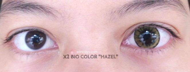 x2 bio color hazel 10